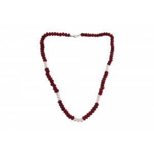Pearl & Ruby Beads Necklace