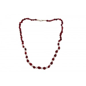 Ruby & Pearl Beads Necklace