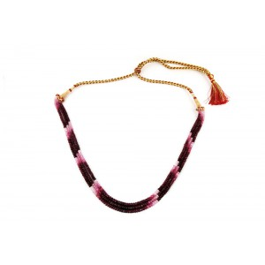 Multi Tourmaline Beads Necklce