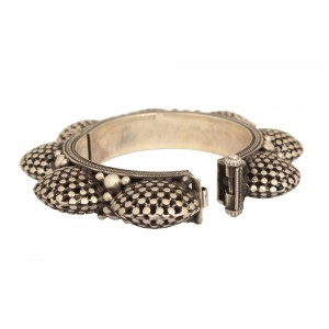Silver Banjara Tribal Bangle