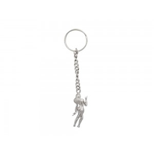 Silver Virgin Lady Key Chain