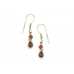 Silver Gold Plated Gemstone Earing