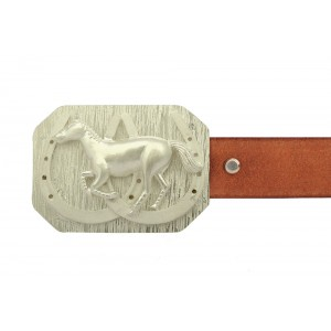 Silver Alloy Gold Plated Belt Buckle