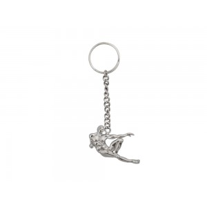 Silver Muscular Man Key Chain
