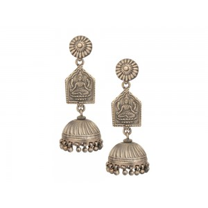 Silver Goddess Tribal Jhumki