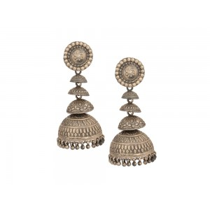 Silver Long Dangler Tribal Jhumki