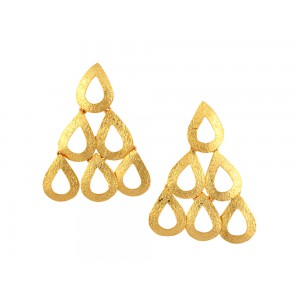 Silver Gold Plated Earing