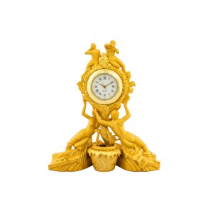 Silver Alloy Gold Plated Antique Watch