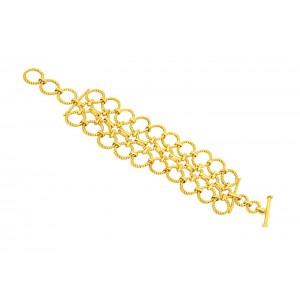 Silver Alloy Gold Plated Bracelet
