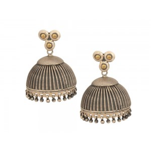 Silver Gold Plated Tribal Jhumki