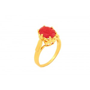Silver Gold Plated Ruby Hydro Ring