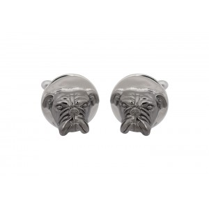 Silver with Black Rhodium Cufflink