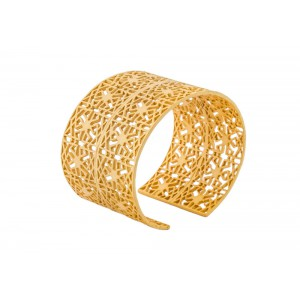 Silver Alloy Gold Plated Net Handcuff