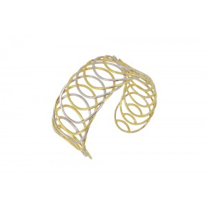 Silver Gold Plated Wired Handcuff