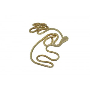 Silver Gold Plated Snake Handcuff