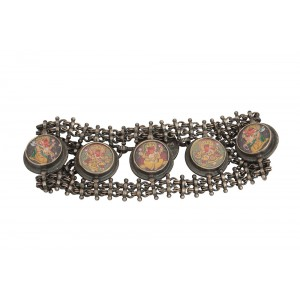 Silver Traditional Gods Tribal Bracelet