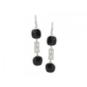 Silver Black Onyx Dangler Earring