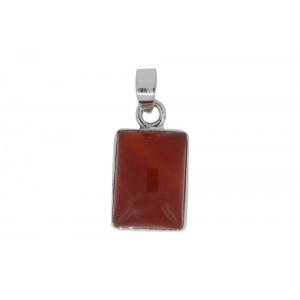Silver Red Onyx Pendant