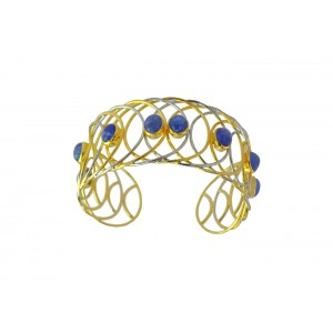 Silver Gold Plated Tanzanite Designer Handcuff